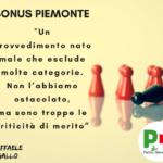 IL BONUS PIEMONTE di CIRIO ESCLUDE MOLTE CATEGORIE