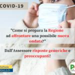COVID19…LA GIUNTA REGIONALE NON HA ALCUN PROGRAMMA