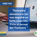 CIRIO PENSI AL PIEMONTE E NON ALLA WEB TAX